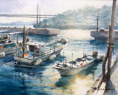 小漁港の午後