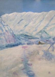 雪 映える(早春の小国) F60